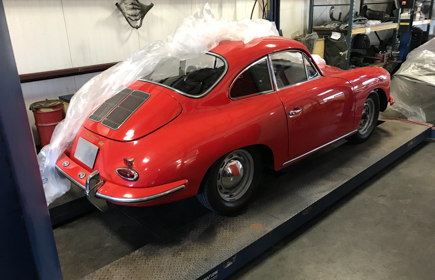 1962 Porsche 356B Coupe Red