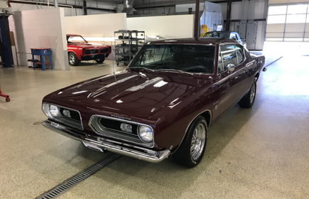 1968 Plymouth Barracuda Maroon